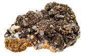 Quartz crystals on host rock — Stock Photo