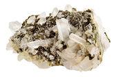 Kryształy kwarcu na skały macierzystej — Zdjęcie stockowe