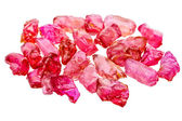 Raw uncut ruby — Stock Photo