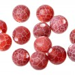 Fire dragon vein agate beads — Stock Photo