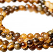 Tiger eye beads — Stock Photo