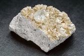 Aquamarine crystal with Muscovite — Stock Photo