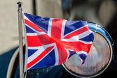 车上的不列颠旗 — 图库照片