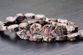 Fossil jasper beads — Stock Photo