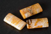 Agate rectangle beads — Stock Photo