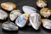 Agate teardrops beads — Stock Photo