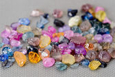 Set of colorful sapphires — Stock Photo