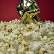 Oscar and popcorn — Stockfoto