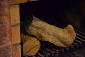 Hearth and firewood — Foto de Stock