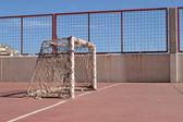 Soccer goal — Stock fotografie