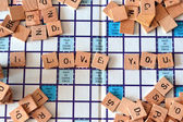I love you words — Stock Photo