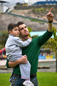 Father and son playing in park — Photo