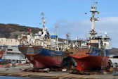 Statki w stoczni — Zdjęcie stockowe