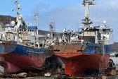 Ships at the shipyard — Foto de Stock