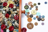 Drawer full of buttons — Stock Photo