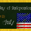 Independence day blackboard — Stock Photo #46597549