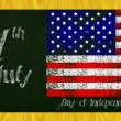 Independence day blackboard — Stock Photo #46597551