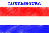 Luxembourg flag — Stock Photo
