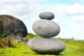 Zen stones with sea background — Stock Photo