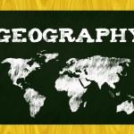 Постер, плакат: Geography blackboard