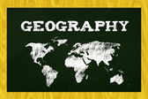 Geography blackboard — Stock fotografie