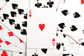 Fundo de cartas de poker — Foto Stock