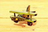Vintage wooden aircraft — Stock Photo