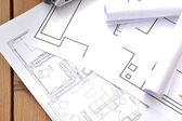 Tools for construction drawings — 图库照片
