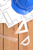Tools for construction drawings — Stock Photo