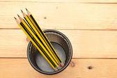 Potloden op hout — Stockfoto