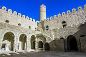 View from the courtyard of the Ribat fortress in the city of Sou — Foto Stock