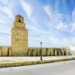 The great mosque in the town of Kairouan in Tunisia — Stock Photo