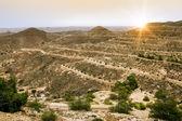 Mountain landscape at the town Matmata in Tunisia — Stock Photo