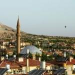 The mosque amid the panoramas in Cappadocia, Turkey — Stock Photo