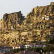 Panorama of Cappadocia at dawn, Turkey — Stock Photo