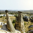 Bizarre rock formations of Cappadocia, Turkey — Stock Photo