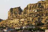 Panorama of Cappadocia at dawn, Turkey — Stock Photo