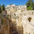Construction of ancient Jerusalem in Israel — Stock fotografie