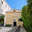 The second station of the Via Dolorosa-the Church of the flagellation (Jerusalem) — Stock Photo