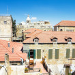 View from the walls of ancient Jerusalem to neighborhoods and city rooftops — Stock Photo #32240303