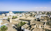 View from the heights over the port and the Medina of Sousse Tun — Stock Photo