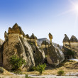 Bizarre rock formations of volcanic Tuff and basalt in Cappadoci — Stock Photo