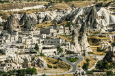 The town of Goreme-Cappadocia, the tourism capital of Turkey — Stock Photo