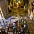 Stock Photo: The stone of unction in Church of the Holy Sepulchre. Jerusalem
