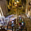 The stone of unction in Church of the Holy Sepulchre. Jerusalem — Stock Photo