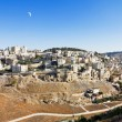 East Jerusalem under the Crescent Moon — Stock Photo