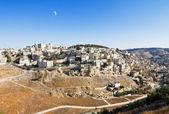 East Jerusalem under the Crescent Moon — Stock Photo