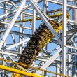 Design of the roller coaster at an amusement park — ストック写真