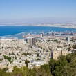 View from Mount Carmel to port and Haifa in Israel — Stock Photo #32983675
