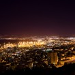 View from Mount Carmel to port and Haifa in Israel with night lighting — Stock Photo #32984939